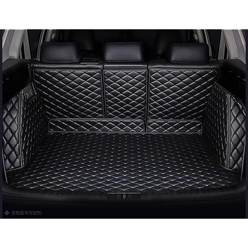 1pcs Black Color Car Mat Car Boot Pad Carpet Trunk Cargo Liner Floor Mat Molded Cargo Tray Custom fit for Hyundai Santa Fe 5 Passenger 2013 2014 2015 2016 2017 2018 2019 2020
