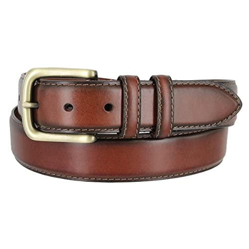 """MEN/'S CLASSIC OIL-TANNED GENUINE LEATHER BS 033 DRESS BUSINESS BELT 1-3//8/"""""""