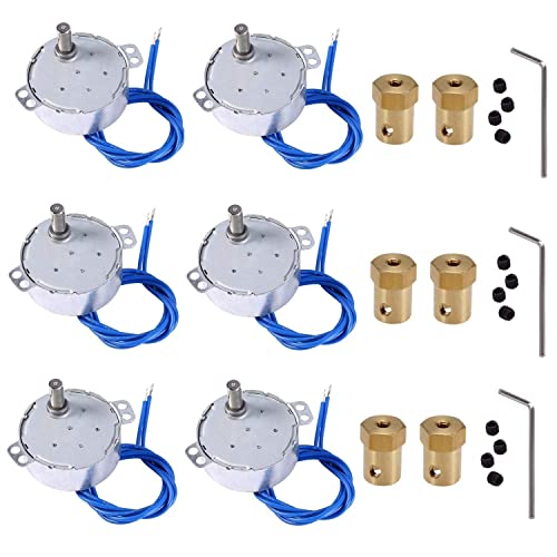 Cup Spinner machine with 7mm Flexibl Connector 4W CCW//CW 4set Tumbler Cup Rotator 5-6R 4PCS Synchronous Motor Set for Tumbler Spinner Cup Turner Motor Turntable for Cuptisserie