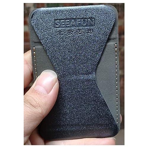 Lazy Portable Magnetic Absorption Ultra Thin Mobile Phone Bracket Back Paste Type Hand Strap Ferrule Desktop Support Bracket Mobile Phone Ring Buckle Black