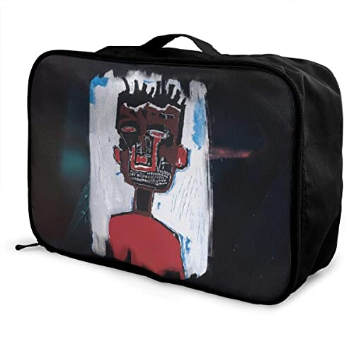 08bad261fdd6 HoriuchiNana Unisex Jean Michel Basquiat Durable Music Band Fans  Lightweight Large Capacity Portable Travel Luggage Bag Gift