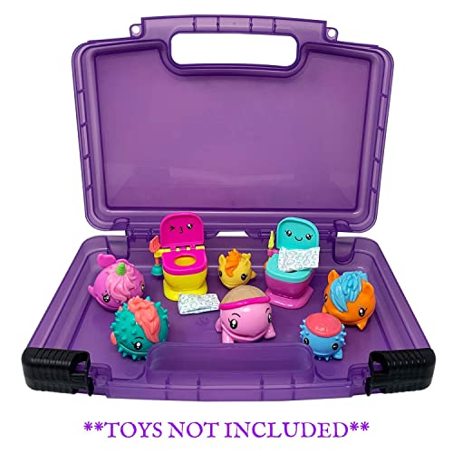Compatible with Funko Racers Life Made Better Strengthened Toy Organizer /& Protective Case in Blue Multiple Compartments for Organizing and Storing Figures