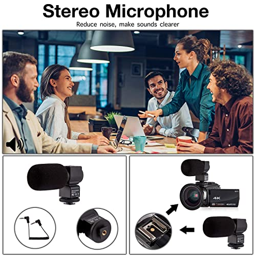 4k Camcorder Video Camera Kot Hd Wifi 3 0 Inch Ips Touch Screen 48mp 16x Powerful Digital Zoom Camera With Microphone And Wide Angle Lens Ir Night Vision Vlogging Video Camera Recorder Handy