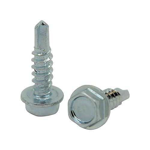 Snug Fastener 100 Qty #8 x 1//2 Zinc Wafer Modified Truss Head TEK Self Drilling Sheet Metal Screws SNG72