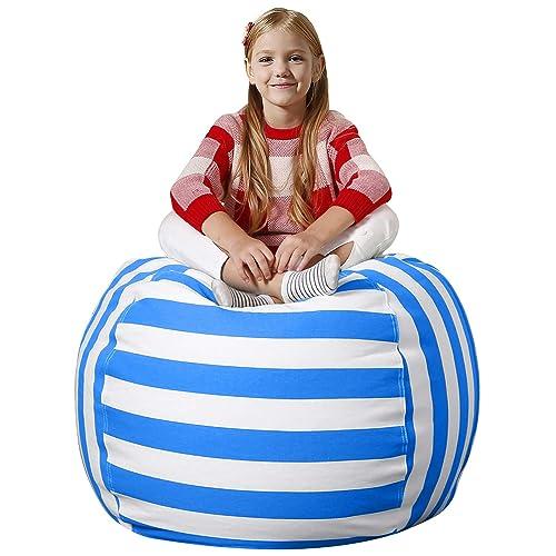 Groovy Buy Aubliss Stuffed Animal Bean Bag Storage Chair Beanbag Theyellowbook Wood Chair Design Ideas Theyellowbookinfo