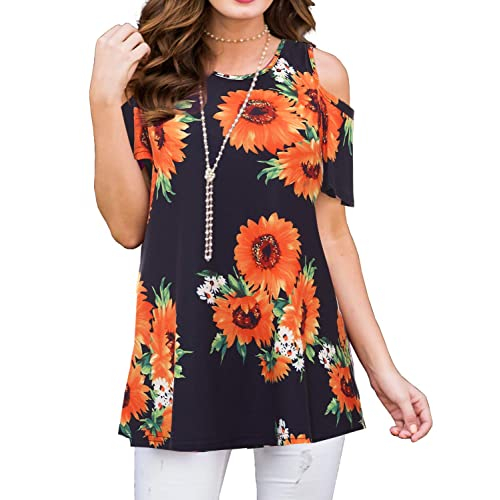 Florboom Womens Long Sleeve Loose Pleated Tunic Tops Shirts