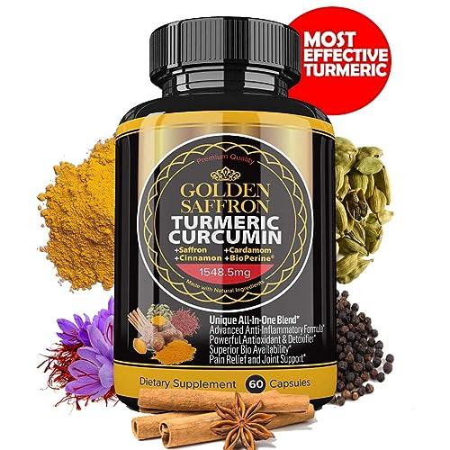 Golden Saffron Turmeric Curcumin With Bioperine Saffron
