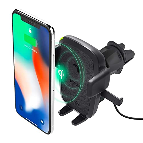 Charvoxrt Auto Clamping Car Charger Mount with 7.5W//10W QI Fast Charging Wireless Car Charger Samsung Galaxy S10+//S9+//S8+ Air Vent Windshield Dashboard Phone Holder for iPhone 11//Xs MAX//XR//X//8+