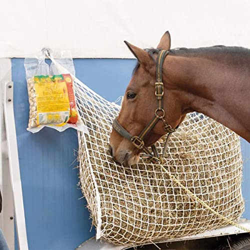 """Ultimate Comfort for Horses Muzzle Multiple Colors Derby Originals 42/"""" Superior Slow Feed Soft Mesh Poly Rope Hanging Hay Net with 2x2/"""" Holes"""