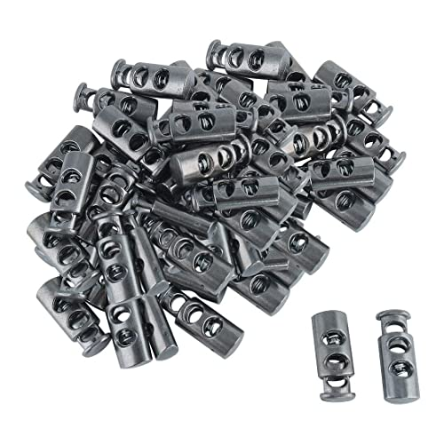 Auch 50pcs Mixed Color Dual Hole Cord Lock DIY Apparel Sewing Accessories Plastic Spring Loaded Fastener Bungee Rope Toggle Stopper Toggle Clip