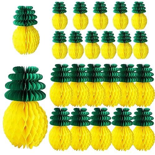 Unique Hawaiian Pineapple Luau Party Honeycomb 12/'/' Table Centerpiece Yellow