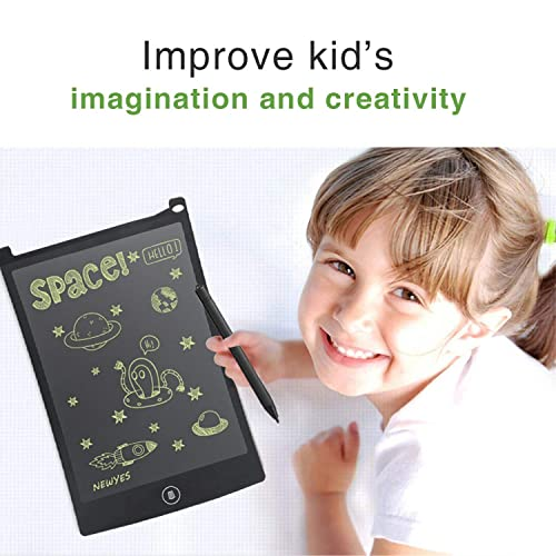 WOBEECO Set of Two 8.5 Inch LCD Writing Tablet Children Doodle Pad Scribble Toy Family Message Board with 2 Lanyards in Place of Scrap Paper and More