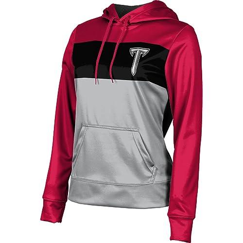 Ombre Troy University Girls Pullover Hoodie School Spirit Sweatshirt