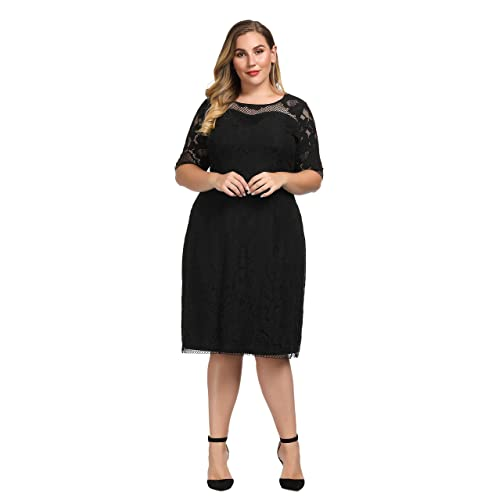 1116e618f7d894 PrevNext. PrevNext. Chicwe Women's Plus Size Lined Floral Lace Dress - Knee  Length Casual Party Cocktail Dress