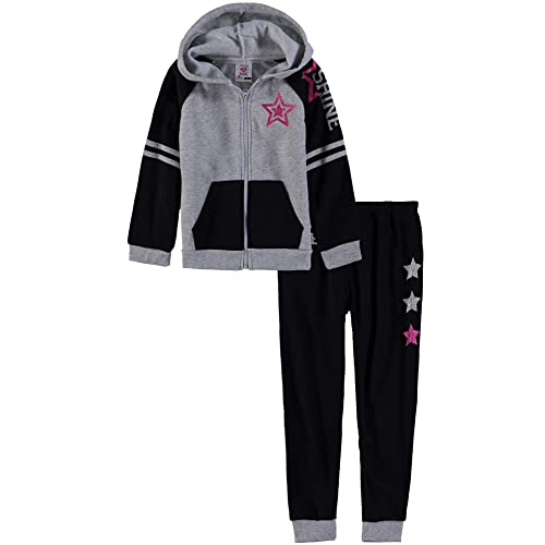 Star Ride Girls 2-Piece Zip Front Hooded Sweatshirt Jogger Set