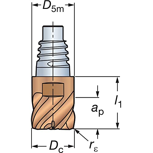 5//8 Cutting Diameter 1-1//4 Cutting Length 5//8 Shank Diameter 0.030 Corner Radius 3-1//2 Length SGS 36814 Z1PCR JetStream Z-Carb-AP High Performance End Mill