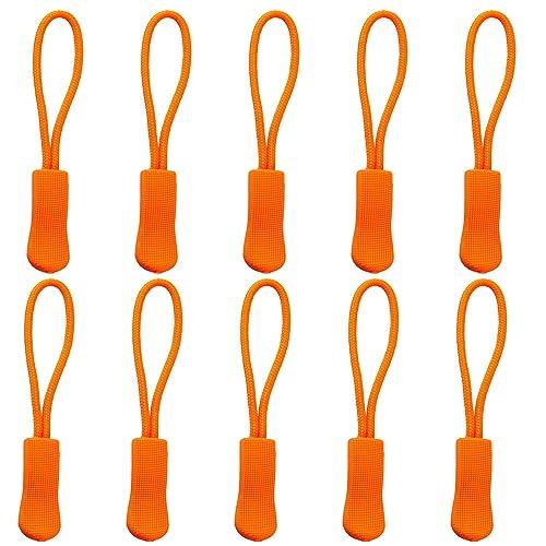 Luckycivia 60 PCS Heavy Duty U Shape Nylon Zipper Pulls Zipper Tags Zipper Extension Replacement for Cord Traveling Cases Luggage Jackets Purses Handbags Backpacks