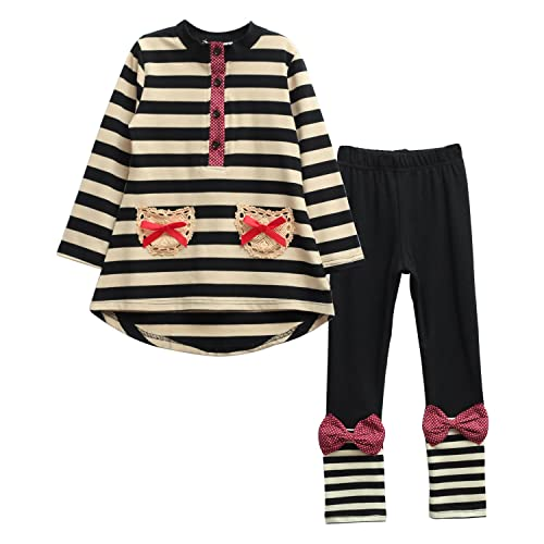 Ancia Fall Winter Girls Long Sleeve Sweatshirt and Dress Pants Outfits Clothes Set