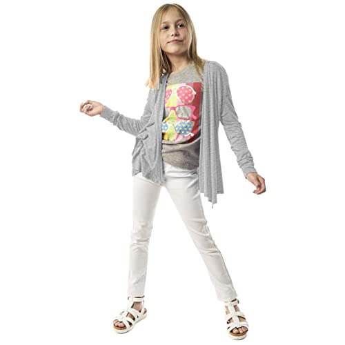 KIDPIK Cardigan for Girls Open Front Long Sleeve Spring or Summer Sweater