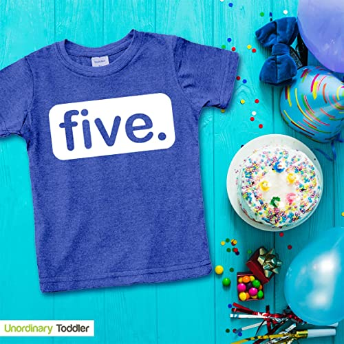 5th Bday Five Year Old Fifth Birthday Gift Toddler//Kids Sweatshirt TeeStars
