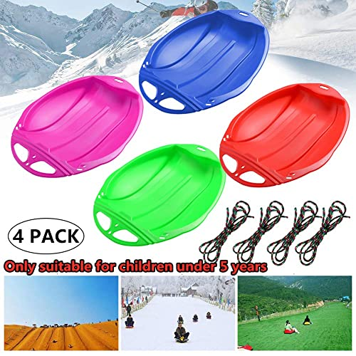 iHAZA Snow Sled for Kids Adults,Snow Sleds,Snow Sledding Equipment,Heavy Duty Plastic Outdoor Winter Plastic Skiing Boards