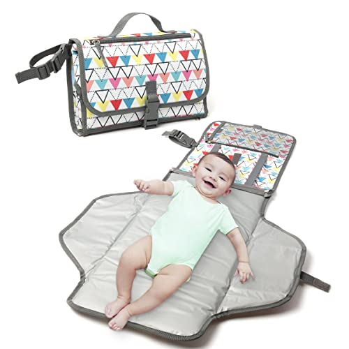 Llama Alpaca Waterproof Baby Changing Pad Stroller Strap,Side Pocket for Wipes Diaper| for Infants /& Newborns Foldable Travel Changing Station Portable Diaper Changing Pad Diaper Bag Mat