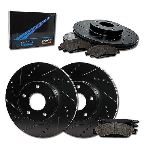 KT084421 Max Brakes Front Performance Brake Kit Premium Cross Drilled Rotors + Ceramic Pads Fits: 2014 14 2015 15 Fit Nissan Juke Non Nismo RS