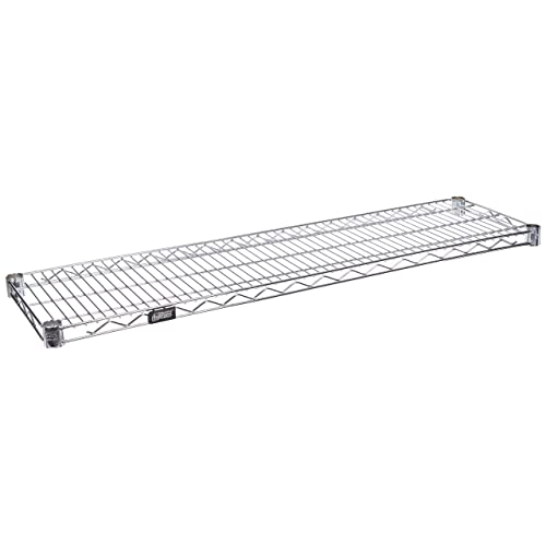 Chrome Finish Load Capacity 1 Height x 48 Width x 18 Depth 800 lb Quantum Storage Systems 1848C-1 Extra Shelf for 18 Deep Wire Shelves