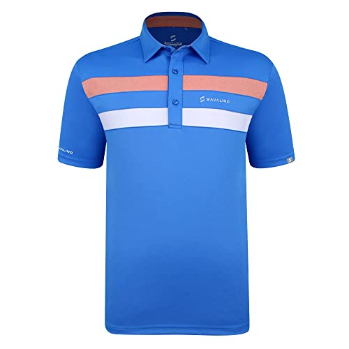 SAVALINO Mens Polo Shirts Material Wicks Sweat /& Dries Fast Size S-5XL/…