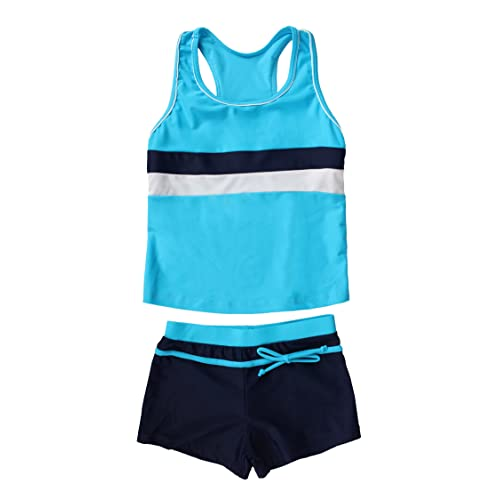 HZYBABY Baby Girls Princess Two Pieces Swimsuit Tankini Set for Kids Ruffle 2 Piece Bathing Suits