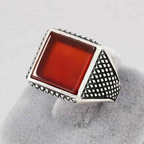 925 Sterling Silver Handmade Gemstone Turkish Alexandrite Ring Size 6-9