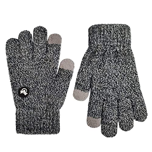 PZLE Kids Magic Gloves Knit with Non-slip Gripper for Winter