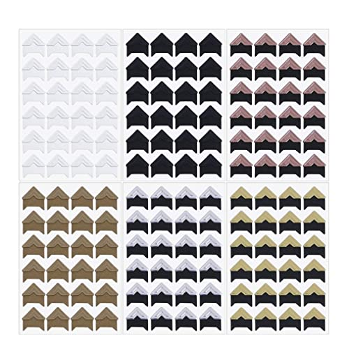 Crafts 18 Sheets Self Adhesive Photo Paper Stickers in 9 Colors Photo Mounting Corners for Kids DIY Scrapbooking Memory Book or Diary Easy to Peel-Off Trip Journal Picture Album