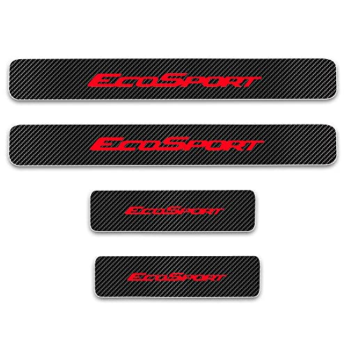 Scuff Plates Cover Car Door Sills Protector Paint Protection Films for Compass Grand Cherokee Patriot Wrangler Front Rear Kick Plates Red 4Pcs