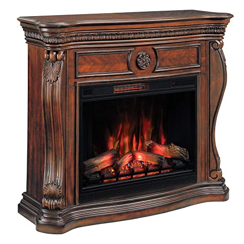 U Maldives Ping For, Greatlin Infrared Electric Fireplace Tv Stand In Black Walnut 26mmas6064 Nw07