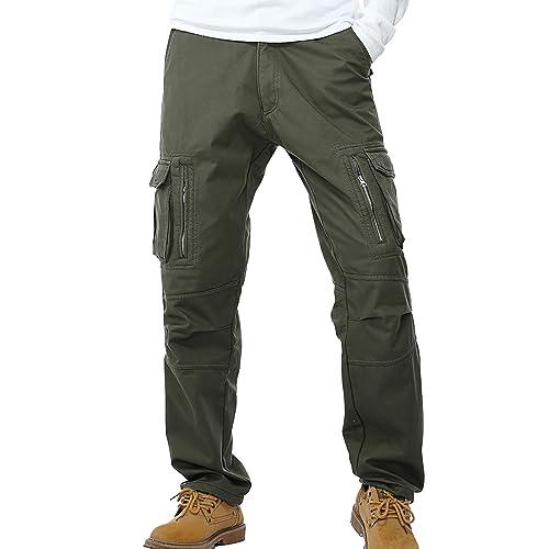 fleece lined thermal work trouser combat cargos NEW WARM BOTTOMS  S M L XL XXL