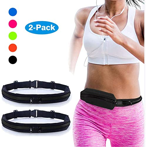 Large Water Resistant Neoprene Running Belt Fanny Pack for Hiking Activity Fitness Dog Walking Stoke Activity Belt Waist Pack Android Windows Large Phones Adjustable Running Pouch for iPhone Plus