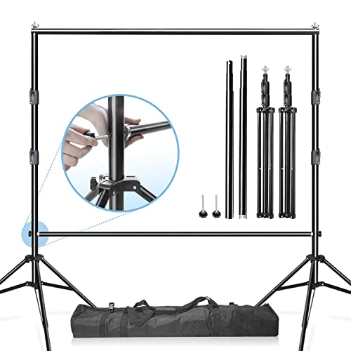 Dyrabrest Backdrop Stand Kit 9.8 X 9.8 ft Telescopic Pole Heavy Duty Wedding Backdrop Stand Outdoor Party 9.8 ft X 9.8 ft
