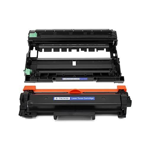 Toner Cartridge Suitable for Brother TN2450 Toner Cartridge Brother MFC-7895DW DCP-7195DW HL-2595DW Printer Replacement Cartridge Drum Rack Set Eco-Friendly Easy Toner Cartridge