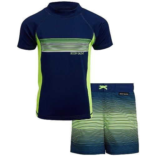 2 Piece Rash Guard Swimsuit Set Body Glove Little Boys 2-Piece UPF 50