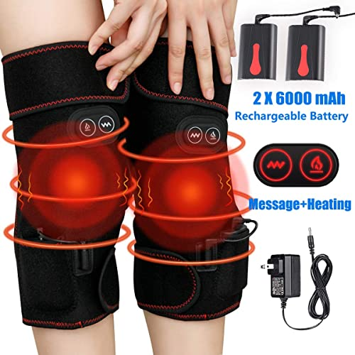 WYILIY Self Heating Knee Pads Magnetic Therapy-Kneepad Outdoor Sports Knee Protector,Vibration Knee Massager with Heating Pad,Leg Massager,Heated Knee Pad for Arthritis Join Pain Relief