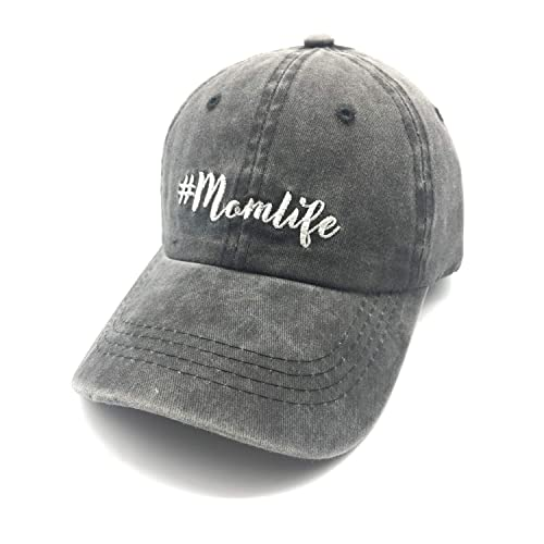 Boy Mom Messy Blessed Life Plain Adjustable Cowboy Cap Denim Hat for Women and Men