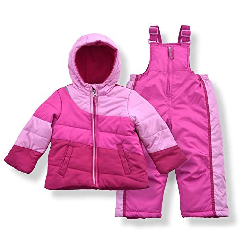 Steve Madden Girls Heavyweight Insulated Ski Jacket and Snow Bib Snowsuit Set Infant//Toddler