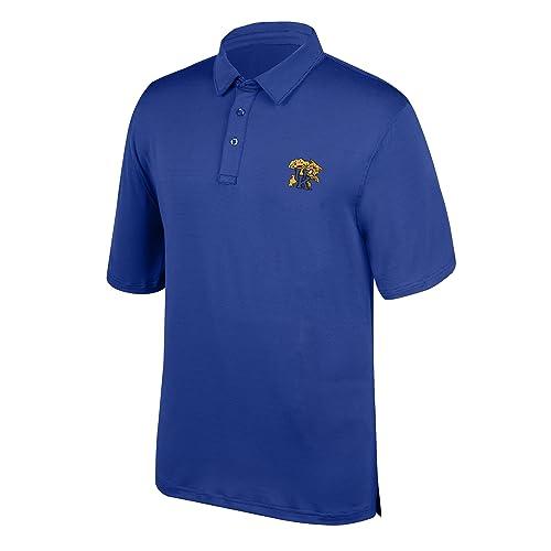 X-Large J America NCAA Mens Baylor Bears Yarn Dye Striped Team Polo Shirt Forest Green