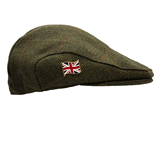 Premium Scottish Teflon Coated Farmers Shooting Hunting... Tweed Flat Cap