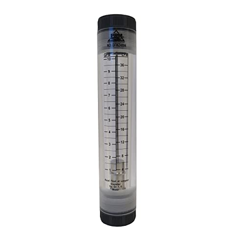 PRM 1-5 GPM Water Rotameter Flow Meter 1//2 Inch FNPT Connections