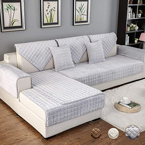 OstepDecor Multi-size Pet Dog Couch Rectangular Soft Quilted Furniture