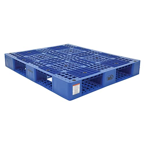 Pack 6 Height 39.5 Length 47.375 Width 6600 lbs Capacity 3- Vestil PLP2-4840-BLUE Blue Polyethylene Pallet with 4 Way Entry