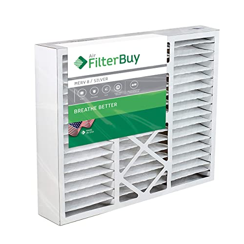 FilterBuy 20x20x2 MERV 8 Pleated AC Furnace Air Filter, Pack of 12 Filters Silver 20x20x2