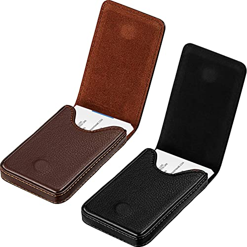 Efaithtek Professional Business Card Holder Business Name Card Holder Luxury PU Leather /& Stainless Steel Multi Card Case Keep Your Business Cards Clean Black